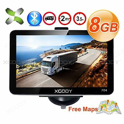 "XGODY Car 7"" GPS Navigation SAT NAV Navigator 8GB w/ Bluetooth HD Touch Vehicle"