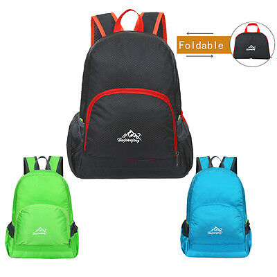 Lightweight Waterproof Foldable Backpack Hiking Bag Outdoor Sports Rucksack New
