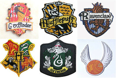 Harry Potter Crest Patch Embroidered School Badge House Emblem Motif Quidditch