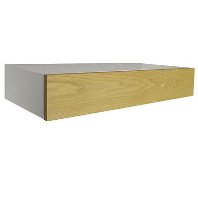 HIDDEN - Floating Storage Shelf with Drawer - White / Ash ST13A219