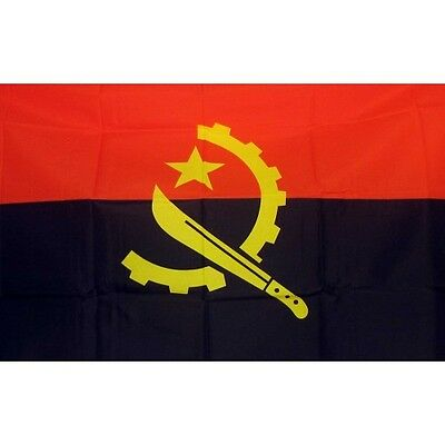 Angola 3 x 5' Banner National Flag 90cm x 150cm