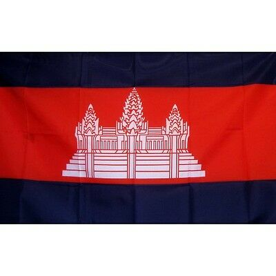 Cambodia 3 x 5' Banner National Flag 90cm x 150cm