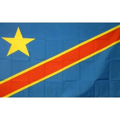 Congo Dem Republic 3 x 5' Banner National Flag 90cm x 150cm