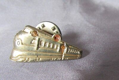 Vintage Locomotive Gold Tone Pin 1/2 X 1