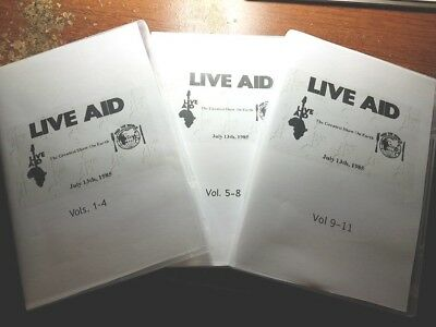 The Complete Live Aid Concert of 1985- LIVE on 11 DVD's with Chapters! rare