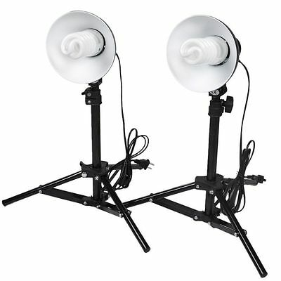 PhotoGeeks 2 x Tabletop Reflector Lamps Set - Continuous Lighting 5500k