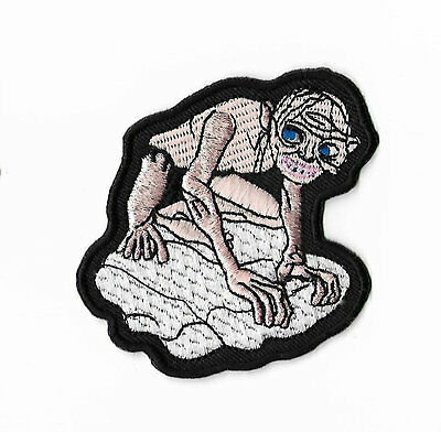 "Gollum / Smeagol Patch Lord of the Rings 3"" Embroidered Badge Hobbit Costume Bag"