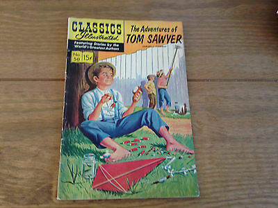 Vintage Classics Illustrated The Adventures of Tom Sawyer No 50 Comic