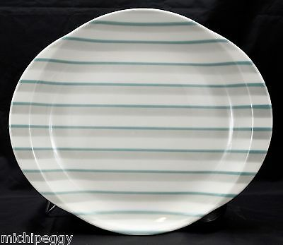 "MINT VINTAGE 1954 W. S. George Mid Century 13¼"" x 11½"" Large Striped Platter"