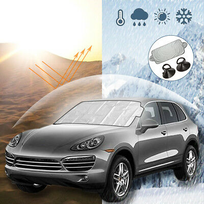 Car Windshield Front Mirror Cover Heat Sun Shade Snow Frost Ice Dust Protector