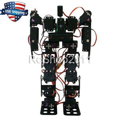 17DOF Biped Robot Educational Robot Kit Servo Bracket Ball Bearing Black from US