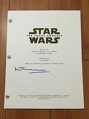 NEAL SCANLAN SIGNED STAR WARS THE FORCE AWAKENS FULL SCRIPT w/PROOF AUTO RARE!