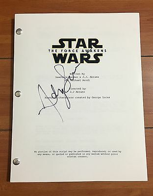 Andy Serkis Signed Star Wars The Force Awakens Full 111 Page Movie Script