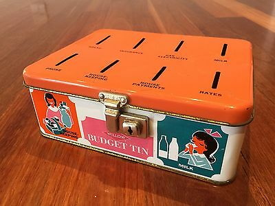 Vintage Collectable Australian Willow Budget Tin
