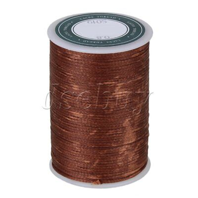 78M 0.8MM Dark Brown Flat Waxed Polyester Thread Cord for Handcraft Leather