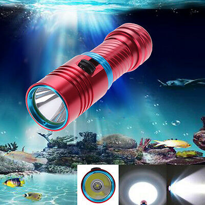 Waterproof 5000LM CREE XM-L2 LED Scuba Diving Flashlight Torch Underwater 100m
