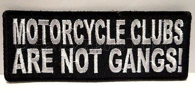 Embroidered Iron Or Sew On Cloth Biker Vest Patch ~ Motorcycle Clubs Are Not ..~