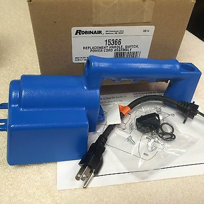 Vacuum Pump, ROBINAIR, Handle, Power Cord & Switch Assembly, 15366
