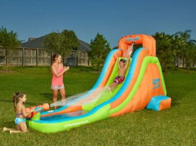 NEW Kids Inflatable Water Slide w Canon Child Swim Pool Fun Swimming Play Float!