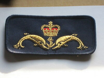 Royal Navy Submarine Badge: Delfine ,Krone & Anker,U Boot Abzeichen, 2x
