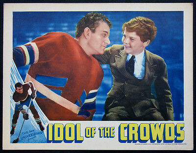 Idol Of The Crowds John Wayne Ice Hockey 1937 Lobby Card