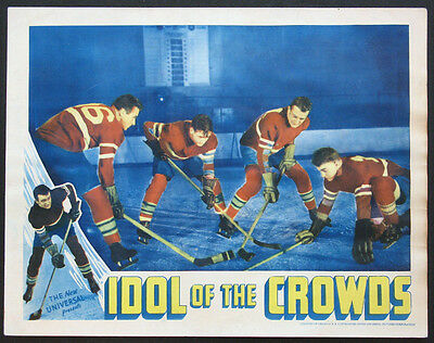 Idol Of The Crowds John Wayne Playing Ice Hockey 1937 Lobby Card