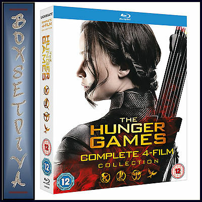 The Hunger Games Complete Collection - All 4 Films *brand New Bluray Boxset*