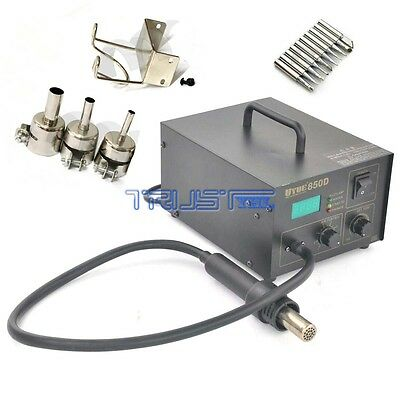 SMD  Welder Soldering Solder Iron Hot Air Gun 850D+ 10Tips
