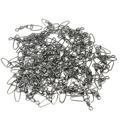 New 100 Pcs Barrel Swivel Rings Fastlock Fishing Pin Snaps Connector Accessories