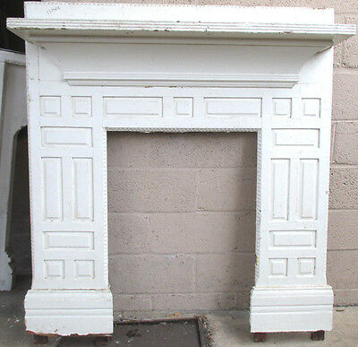 ~ Antique Pine Fireplace Mantel~ Unique ~ 48.25 X 52 ~ Architectural Salvage ~