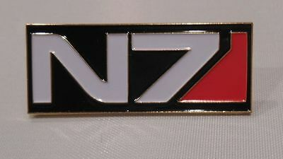 N-7 Mass Effect Enamel Pin  2 Inches X 1 Inch With 2 Push Pins On Back
