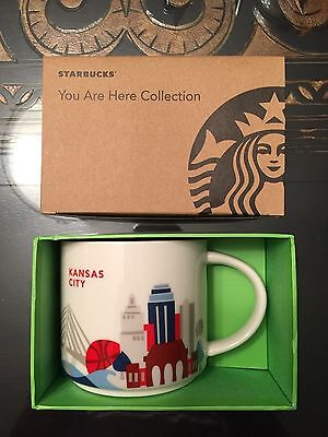 Kansas City Starbucks Mug 14 oz. You Are Here Collection YAH Cup New In Box