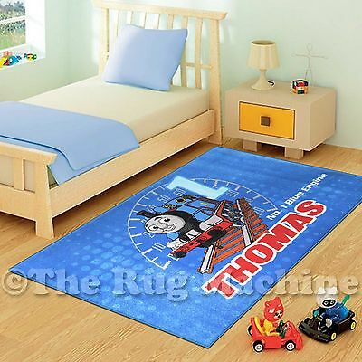 COOL THOMAS THE TANK ENGINE KIDS FUN PLAY RUG 133x200cm NON-SLIP & WASHABLE *NEW