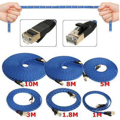 1~10M Durable Strong Blue Cat 7 RJ45 Network LAN Patch Ethernet Cable Cord