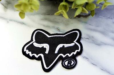 BLACK Coyote Hound Wild Animal Cutout Brand Iron On Sew Patch Badge Transfer Pin