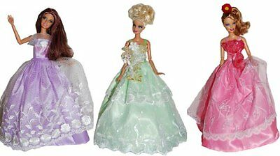 Barbie Doll Dresses - Wildflower 3 Dress Set - DOLLS NOT INCLUDED