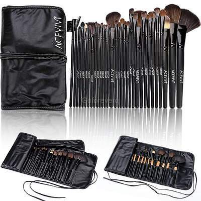 32 tlg. Kosmetik Pinselset Make-up Schminkpinsel set Lidschatten Pinsel Brush