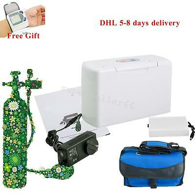 High Density CE Portable Oxygen Concentrator Generator + battery Home/Travel/Car