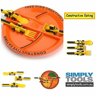 Constructive Eating Plate & Cutlery Set