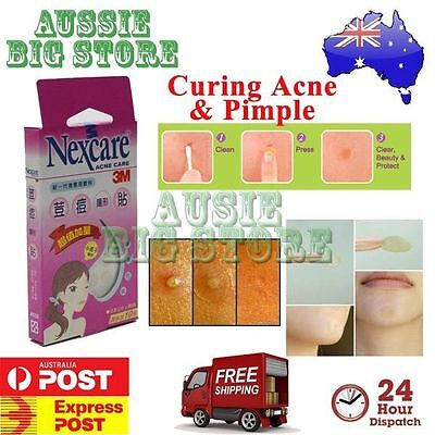 50 Pcs Nexcare 3M Acne Dressing Pimple Sticker Inflamed Zit Heal Patch Thin