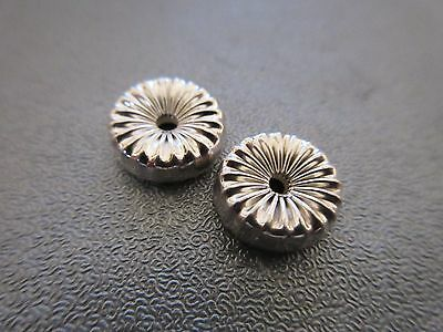 Sterling Silver Donut Corrugated Bead Spacer 10mm 2pcs