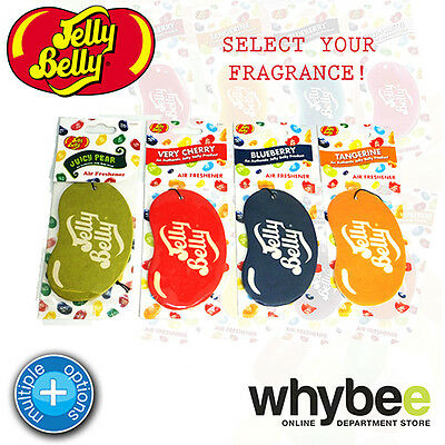Jelly Belly 2D Hanging Flat Cardboard Air Freshener Pick From 4 Flavours Lasting