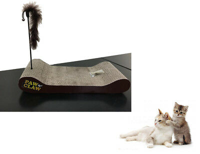 Cardboard Cat Scratcher Sofa Lounge W/ Free Cat Nip Animal Pet Cat Kitten Bed