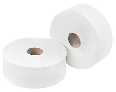 """F2 Medical 2 Ply White Jumbo Toilet Roll 12 Per Pack 3"""" Core 150m x 90mm"""
