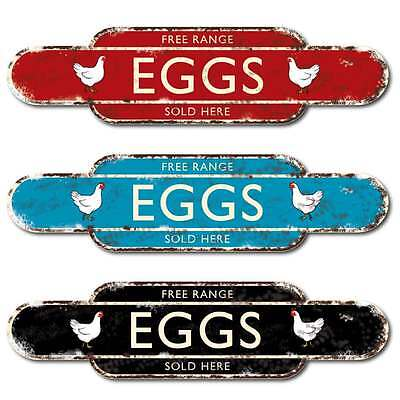 EGGS SOLD HERE Sign Vintage style, Outdoor Advertising Sign Rusty Sign, 16""