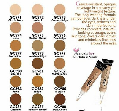 LA Girl PRO CONCEALER HD - UK SELLER!!- 100% AUTHENTIC- 18 SHADES!!