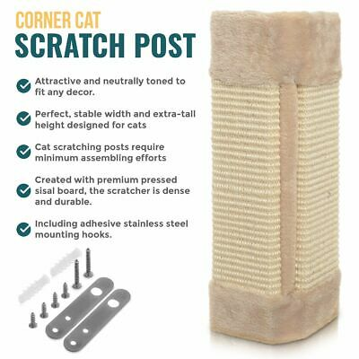 New Cat Scratcher Scratching Post Corner Sisal Post Board Kitten Pet Animal Play