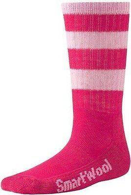 Smartwool, Calze Bambino Striped Hike Light Crew, Multicolore (punch NUOVO