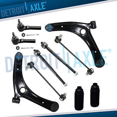 2007-2014 for Dodge Caliber Jeep Compass 10pc Front Lower Control Arm Tierod Kit