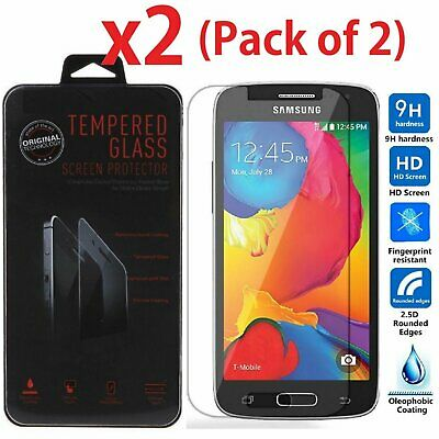 2-Pack Premium Tempered Glass Film Screen Protector for SAMSUNG Galaxy Avant